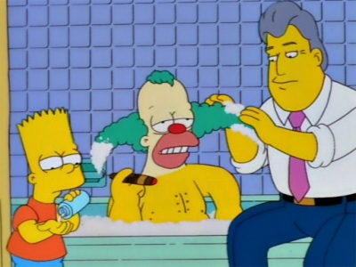 I didn't realize that you, Jay Leno, and a monkey were bathing a clown